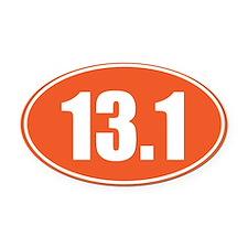 13.1 orange oval Oval Car Magnet