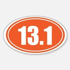 13.1 orange oval Decal