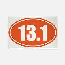 13.1 orange oval Rectangle Magnet