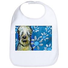 Wheaten Terrier flowers Bib