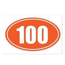 100 orange oval Postcards (Package of 8)