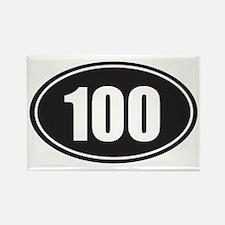 100 black oval Rectangle Magnet