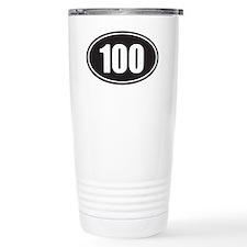 100 black oval Ceramic Travel Mug