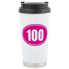 100 pink oval Travel Mug