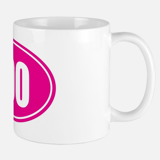 100 pink oval Mug