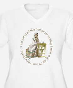 Jane Austen Writing Plus Size T-Shirt
