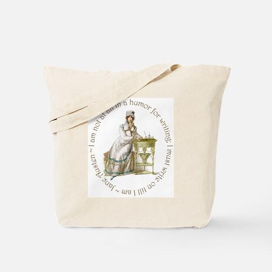 Jane Austen Writing Tote Bag