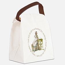Jane Austen Writing Canvas Lunch Bag