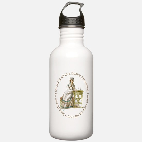 Jane Austen Writing Water Bottle