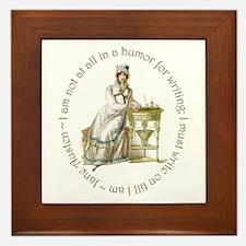 Jane Austen Writing Framed Tile