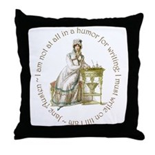 Jane Austen Writing Throw Pillow