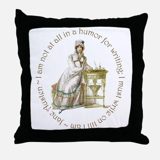 Jane Austen Writing Throw Pillow