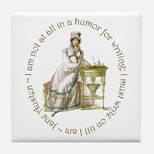 Jane Austen Writing Tile Coaster