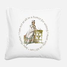 Jane Austen Writing Square Canvas Pillow