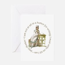 Jane Austen Writing Greeting Cards