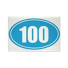 100 light blue oval Rectangle Magnet