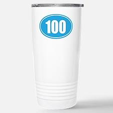 100 light blue oval Stainless Steel Travel Mug