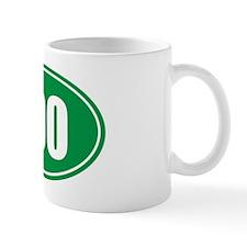 100 green oval Mug