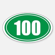 100 green oval Decal