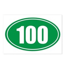 100 green oval Postcards (Package of 8)