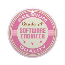 Premium quality Software Engineer Ornament (Round)