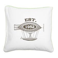 Vintage Birthday Est 1952 Square Canvas Pillow