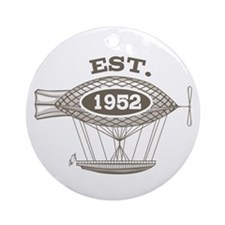 Vintage Birthday Est 1952 Ornament (Round)