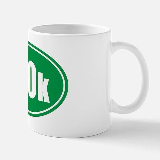 100k green oval Mug