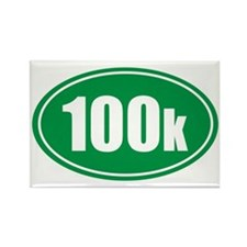 100k green oval Rectangle Magnet