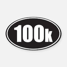 100k black oval Oval Car Magnet