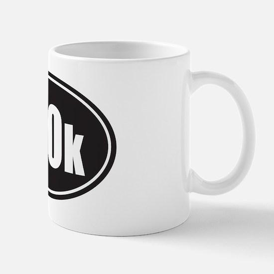 100k black oval Mug