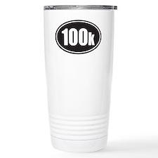 100k black oval Travel Coffee Mug