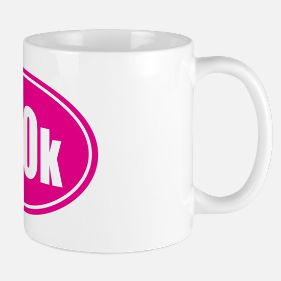 100k pink oval Mug