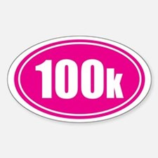100k pink oval Decal