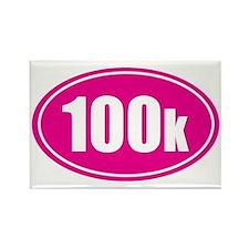 100k pink oval Rectangle Magnet