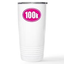 100k pink oval Travel Mug