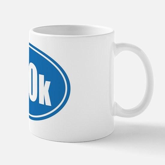 100k blue oval Mug