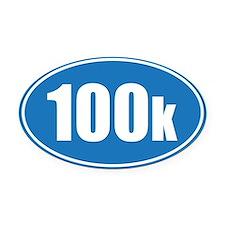 100k blue oval Oval Car Magnet