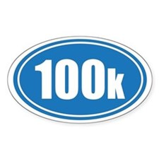 100k blue oval Decal
