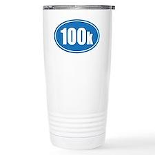 100k blue oval Travel Mug
