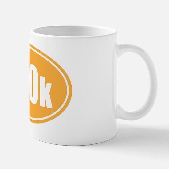 100k orange oval Mug