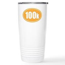 100k orange oval Travel Coffee Mug