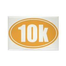 10k orange oval Rectangle Magnet