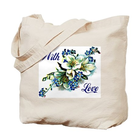 With Love - Blue Tote Bag