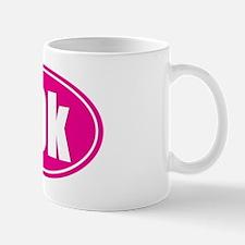 10k pink oval Mug