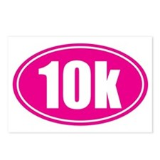 10k pink oval Postcards (Package of 8)