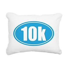 10k light blue oval Rectangular Canvas Pillow
