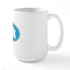 10k light blue oval Mug