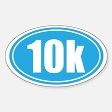 10k light blue oval Decal