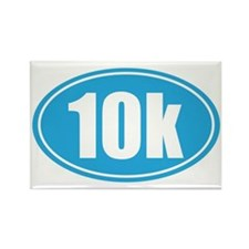 10k light blue oval Rectangle Magnet